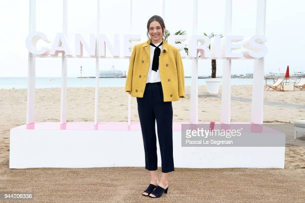 Anne Regine Ellingsaeter attends State of Happiness Photocall during the 1st Cannes International Series Festival on April 10 2018 in Cannes France
