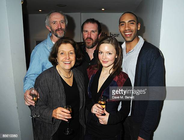Anne Reid Jonathan Pryce director Douglas Hodge Holliday Grainger and Alex Lanipekun attend the press night of 'Dimetos' at the Donmar Warehouse on...