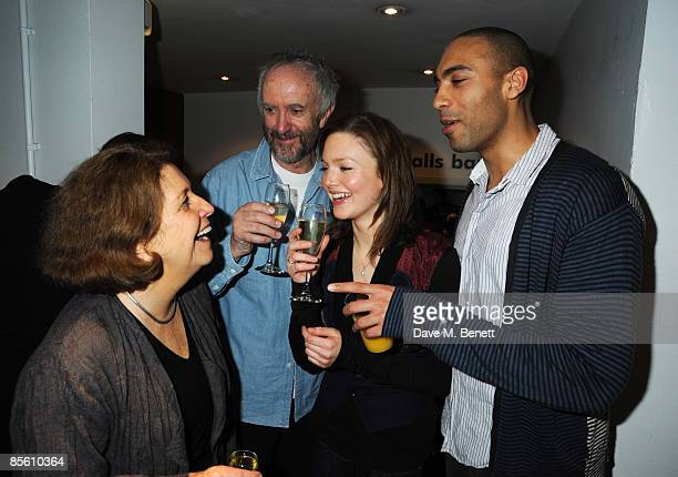 Anne Reid Jonathan Pryce Holliday Grainger and Alex Lanipekun attend the press night of 'Dimetos' at the Donmar Warehouse on March 25 2009 in London...