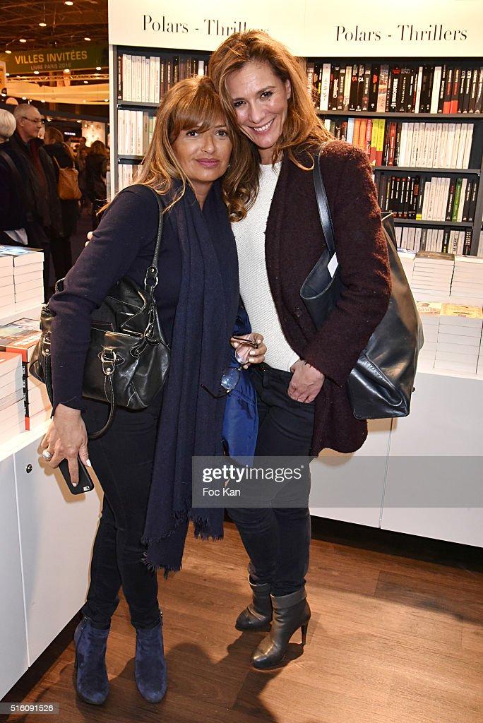 Anne Remy and Tele Matin presenter Marie Mamgioglou attend \