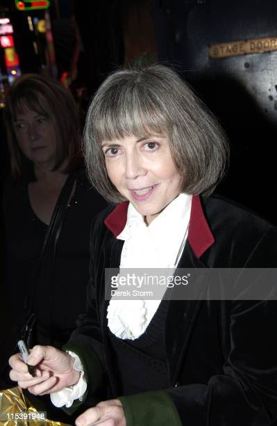 Anne Rice during Lestat Group Sales Events at the Winter Garden Theater November 1 2005 at Winter Garden Theater in New York City New York United...