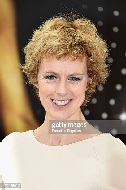 Anne Richard poses during a photocall for the TV Show ' Piege de Glace' as part of the 54th MonteCarlo Television Festival on June 8 2014 in...