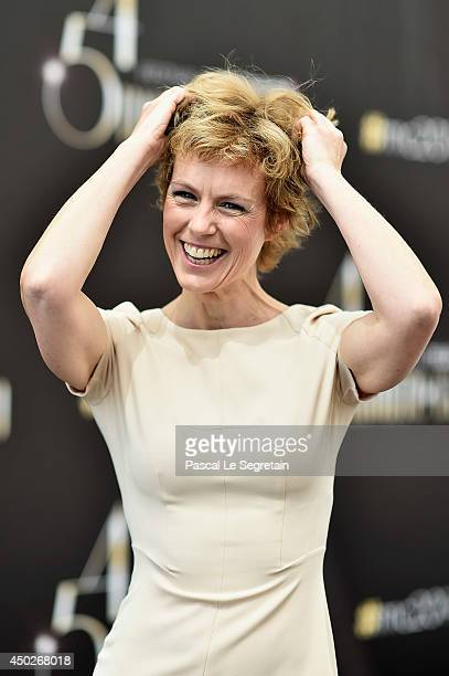 Anne Richard poses during a photocall for the TV Show ' Piege de Glace' as part of the 54th Monte-Carlo Television Festival on June 8, 2014 in...
