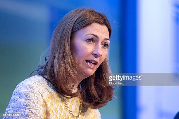 Anne Richards chief investment officer and executive director of Aberdeen Asset Management Plc speaks during the Milken Institute London summit in...