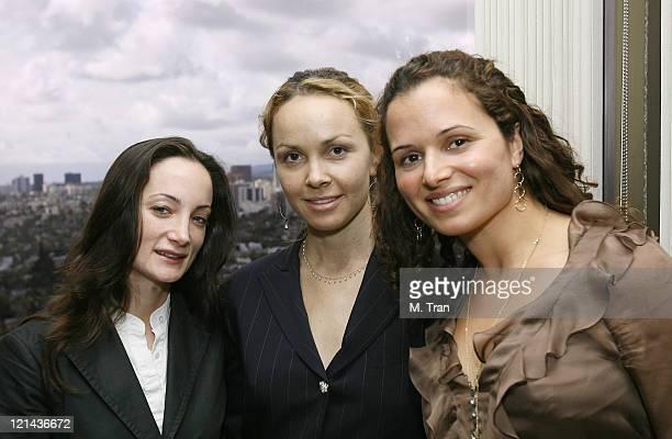 Anne Riley-Katz of Los Angeles Business Journal, Christina Martin and Amanda Keidan