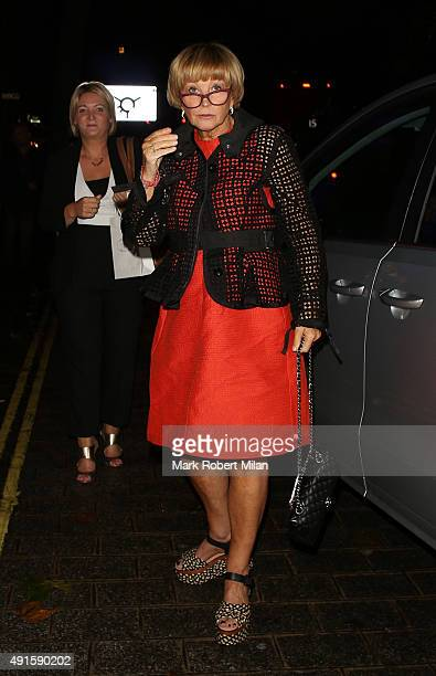 Anne Robinson attending the Specsavers 'Spectacle Wearer of the Year' party on October 6 2015 in London England