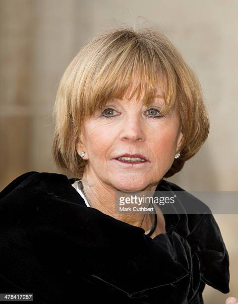 Anne Robinson attends a memorial service for Sir David Frost at Westminster Abbey on March 13 2014 in London England