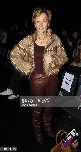 Anne Robinson during London Fashion Week Autumn/Winter 2006 Betty Jackson Front Row at Natural History Museum in London Great Britain