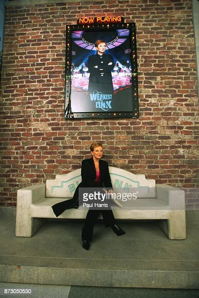 Anne Robinson host of The Weakest Link TV quiz show in America and United Kingdom shuttles between the two countries to fulfill the recording...