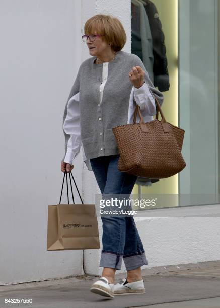 Anne Robinson is seen out shopping in Westbourne Grove September 05 2017 in London