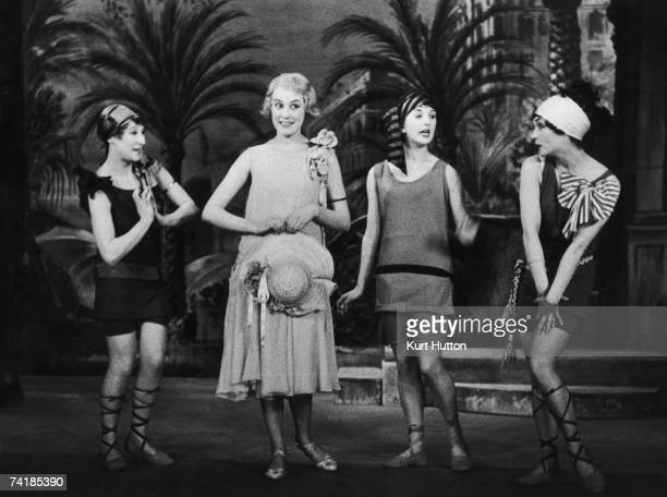 Anne Rogers plays the part of Polly Browne in the musical comedy 'The Boy Friend' on stage at the Players' Theatre London 15th August 1953 Original...
