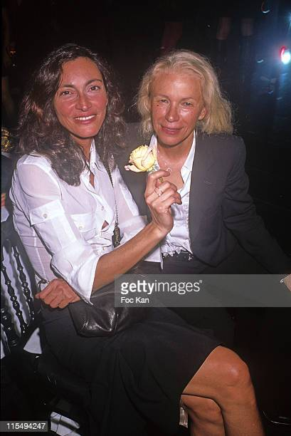 Anne Rohart and Dominique Issermann attend the Sonia Rykiel Paris Fashion Week Spring/Summer 09 at the Parc de St Cloud on October 01 2008 in Paris...