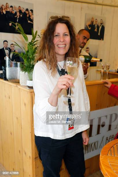 Anne Rosellini attends the Leave No Trace party presented by Perrier-Jouet at Nikki Beach on May 13, 2018 in Cannes, France.