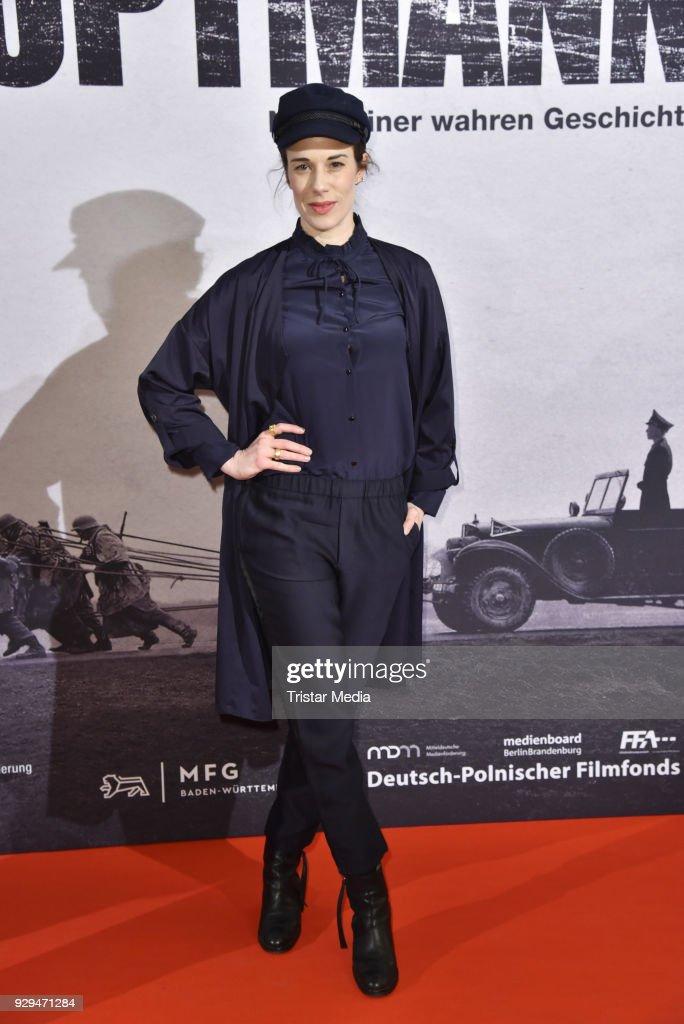 Anne Schaefer attends the premiere of 'Der Hauptmann' at Kino International on March 8, 2018 in Berlin, Germany.