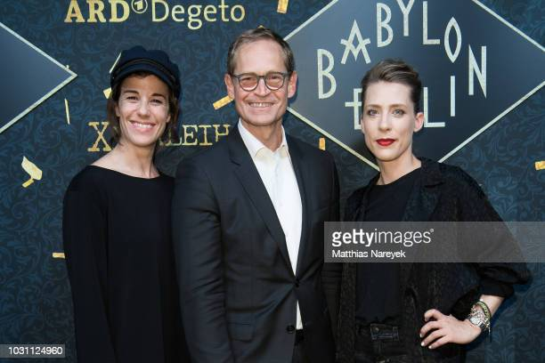Anne Schaefer Michael Mueller and Marisa Leonie Bach attends the 'Babylon Berlin Golden Hours' premiere at Bar Tausend on September 10 2018 in Berlin...
