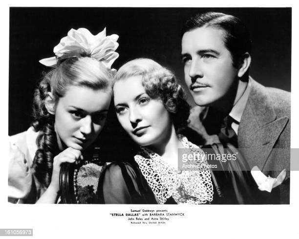 Anne Shirley Barbara Stanwyck and John Boles from the film 'Stella Dallas' 1937