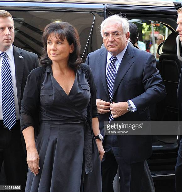 Anne Sinclair and Dominique StraussKahn arrive at Manhattan Criminal Court to attend a status hearing on the sexual assault charges against...