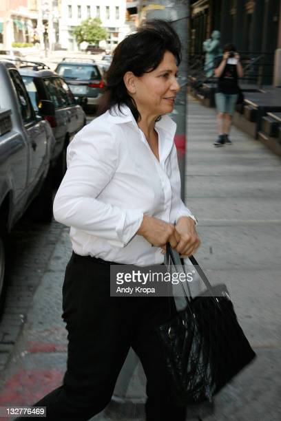 Anne Sinclair arrives at the temporary residence of Dominique StraussKahn on July 9 2011 in New York United States