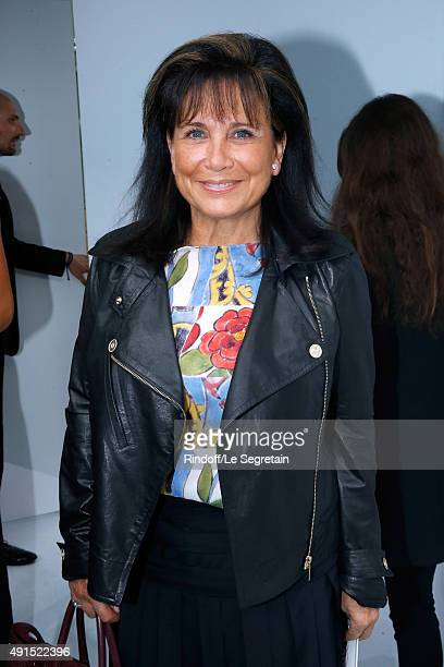 Anne Sinclair attends the Chanel show as part of the Paris Fashion Week Womenswear Spring/Summer 2016 Held at Grand Palais on October 6 2015 in Paris...