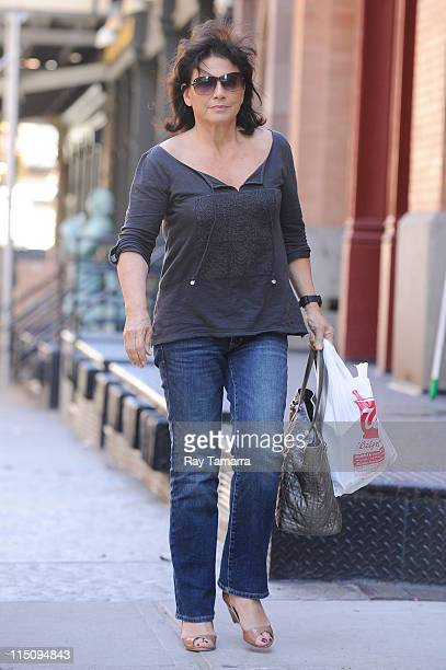 Anne Sinclair enters her Tribeca apartment on June 2 2011 in New York City