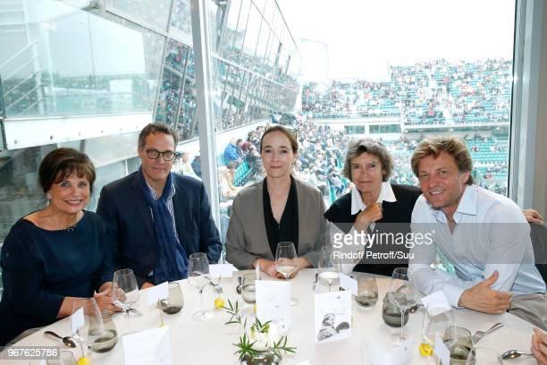 Anne Sinclair Olivier Courson President of France Television Delphine Ernotte Veronique Cayla and Laurent Delahousse attend the 'France Television'...