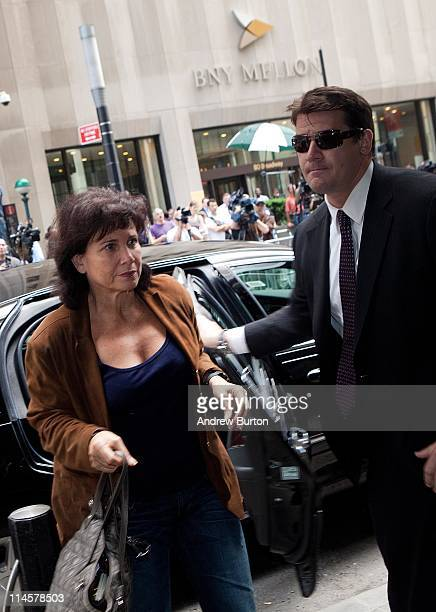 Anne Sinclair wife of former International Monetary Fund chief Dominique StraussKahn enters 71 Broadway where StraussKahn is under house arrest under...