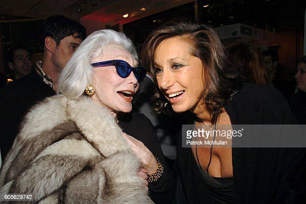 Anne Slater and Donna Karan attend The Launch of PATRICK MCMULLAN'S Book KISS KISS and the new DKNY Fragrance RED DELICIOUS at DKNY Store on February...