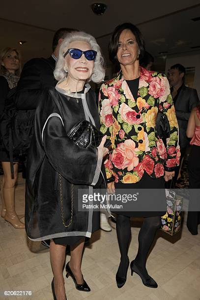 Anne Slater and Ellin Saltzman attend The NEW YORK TIMES BERGDORF GOODMAN Celebrate a Photography Retrospective by BILL CUNNINGHAM at Bergdorf...