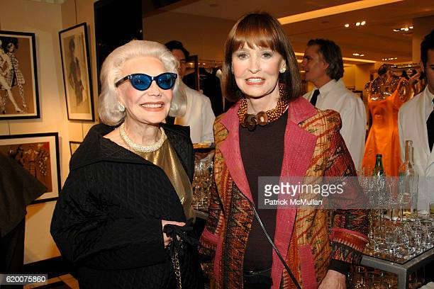 Anne Slater and Gloria Vanderbilt attend Celebration Book Signing for DRAWING FASHION THE ART OF KENNETH PAUL BLOCK by Susan Mulcahy at Bergdorf...