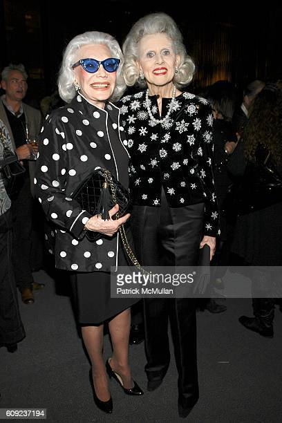 Anne Slater and Judy Peabody attend BILL BLASS Fragrance Launch at Four Seasons Restaurant on February 6 2007 in New York City
