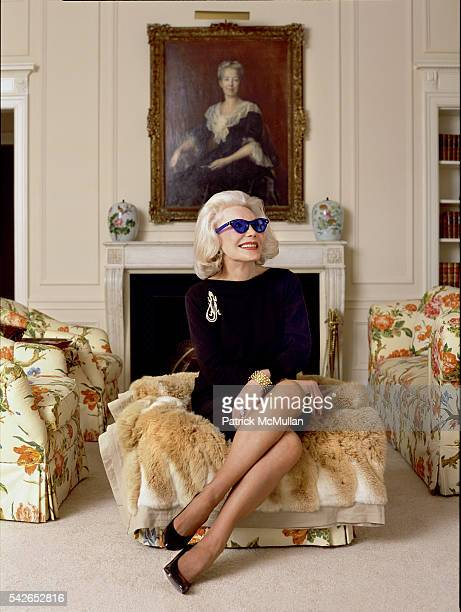 Anne Slater attends poses for a portrait in her home on January 23 2004 in New York City