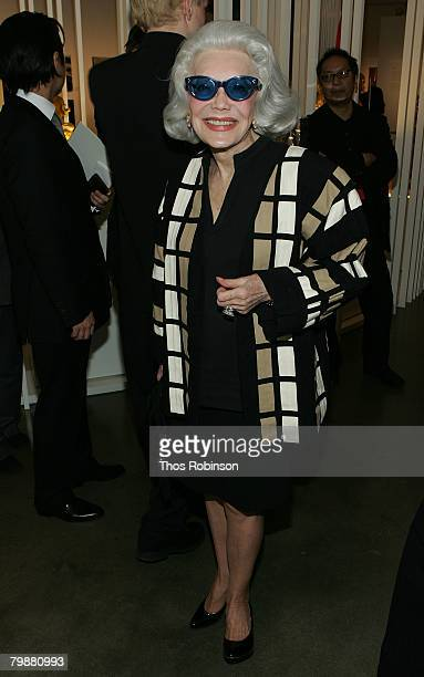 Anne Slater attends the opening for the Vision and Art of Shinjo Ito at the Milk Gallery on February 20 2008 in New York