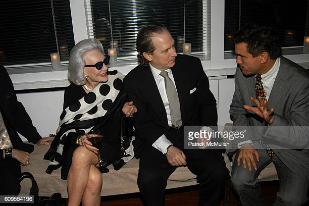 Anne Slater John Cahill and Jeffrey Slonim attend PLEASURE PALACES THE ART AND HOMES OF HUNT SLONEM Private Reception at Hudson Hotel Penthouse on...