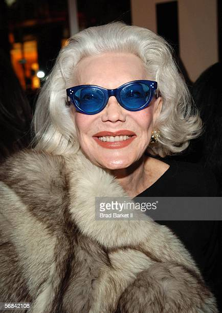 Anne Slater poses for a picture at the Kiss Kiss and Red Delicious Party at the DKNY Store on February 13 2006 in New York City Designer Donna Karan...