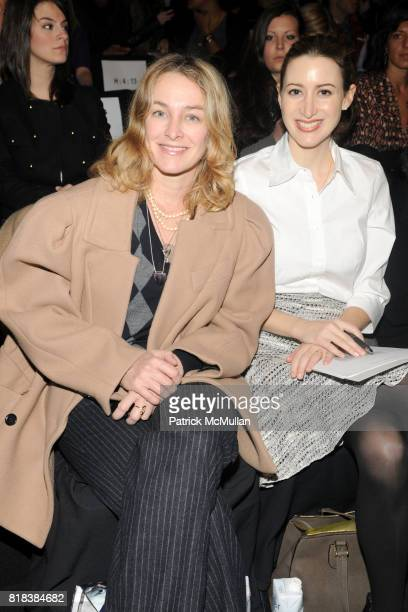 Anne Slowey and Alexis Bryan Morgan attend BCBG MAX AZRIA Fall 2010 Collection at Bryant Park Tents on February 11 2010 in New York City