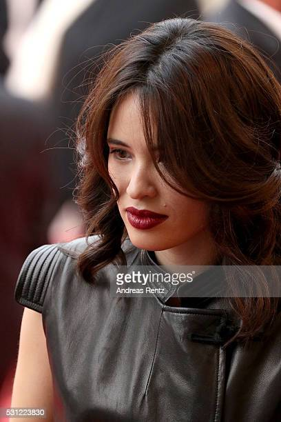Anne Solenne Hatte attends the 'Slack Bay ' premiere during the 69th annual Cannes Film Festival at the Palais des Festivals on May 13 2016 in Cannes...