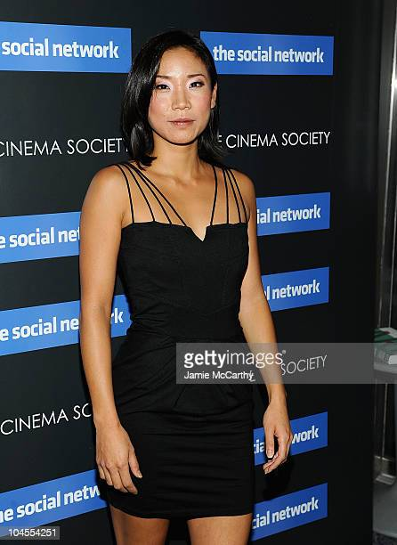 Anne Son attends Columbia Pictures' and The Cinema Society's screening of 'The Social Network' at the School of Visual Arts Theater on September 29...