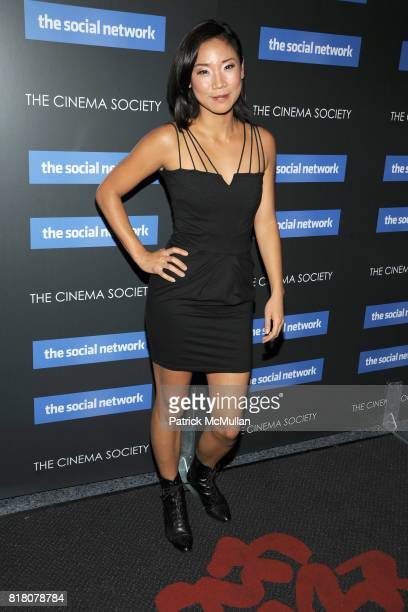Anne Son attends COLUMBIA PICTURES THE CINEMA SOCIETY host a screening of 'THE SOCIAL NETWORK' at The SVA Theater on September 29 2010 in New York...