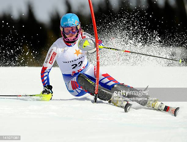 Anne Sophie Barthet of France competes during the Audi FIS Alpine Ski World Cup Women's Slalom on March 10 2012 in Are Sweden