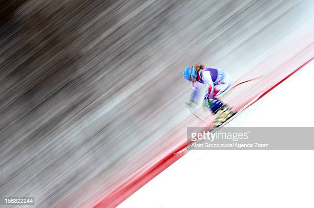 Anne Sophie Barthet of France competes during the Audi FIS Alpine Ski World Cup Women's Downhill training on December 13 2012 in Val d'Isere France