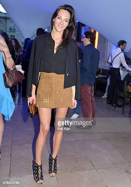 Anne Sophie Berbille attends the 'Hublot Blue' cocktail party At Monsieur Bleu Palais De Tokyo on June 24 2015 in Paris France