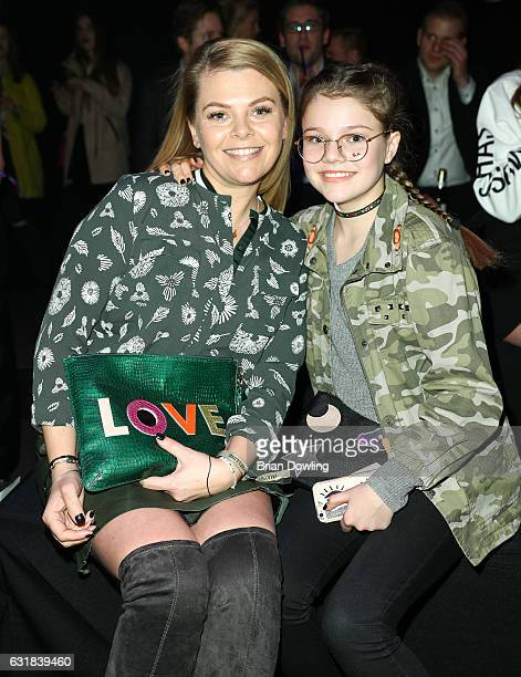 Anne Sophie Briest and daughter Faye Montana attend the Maybelline Hot Trendsxhbition 2017 show during the MercedesBenz Fashion Week Berlin A/W 2017...