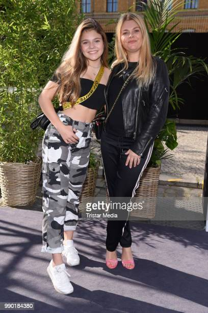 Anne Sophie Briest and her daughter Faye Montana attend the Guido Maria Kretschmer show during the Berlin Fashion Week Spring/Summer 2019 at ewerk on...