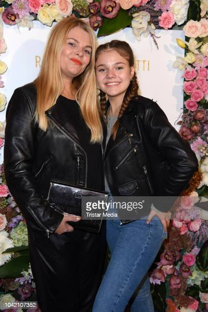 Anne Sophie Briest and her daughter Faye Montana attend the Riccardo Simonetti 'Mein Recht zu funkeln' book release party at Gorki Apartments on...