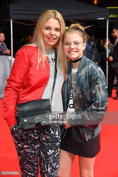 Anne Sophie Briest and her daughter Faye Montana attend the 'Unsere Zeit ist jetzt' World Premiere at CineStar on September 27, 2016 in Berlin,...