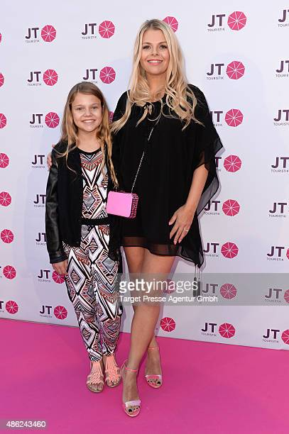 Anne Sophie Briest and her daughter Faye Montana attends the JT Touristik BBQ on September 2, 2015 in Berlin, Germany.