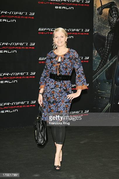 Anne Sophie Briest at the arrival to Spider Man 3 Premiere In Berlin On 250407