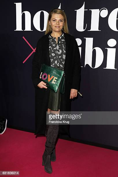 Anne Sophie Briest attends the Maybelline Hot Trendsxhibition 2017 show during the MercedesBenz Fashion Week Berlin A/W 2017 at Motorenwerk on...