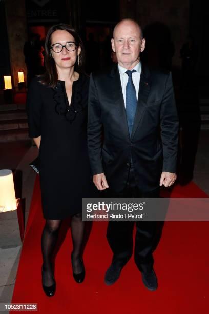 Anne Sophie de Gasquet and Christophe Girard attend the 'Societe des Amis du Musee d'Art Moderne' Dinner Held at Musee d'Art Moderne de la Ville de...