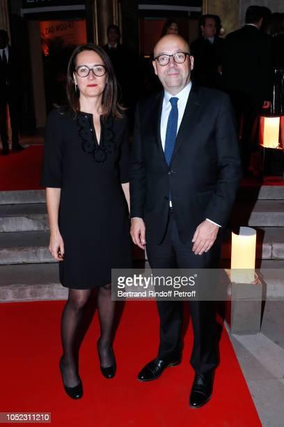 Anne Sophie de Gasquet and Director of the 'Musee d'Art Moderne de la Ville de Paris' Fabrice Hergott attend the 'Societe des Amis du Musee d'Art...
